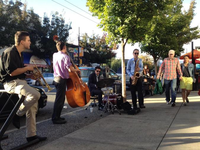 Buskers play music on Commercial Drive - Streets For Everyone