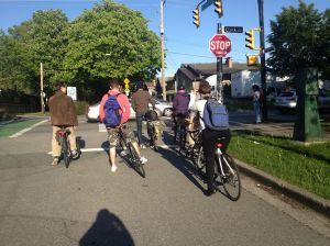bikes at a stoplight